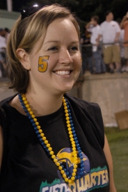That's me- cheering for the Troup Tigers at a football game in Georgia in 2007.