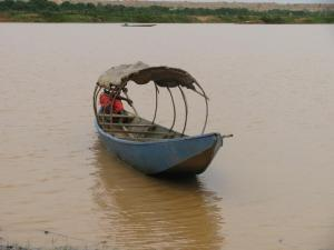 One day in Niger we took boat rides to look for hippos. We saw some peak their heads out from under the water. It was amazing! The boats, however, were a little scary!