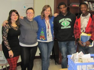 With some of my students my last day at North Side.